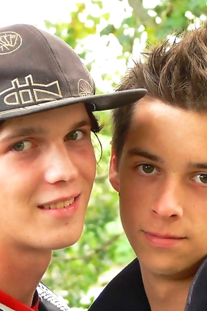 Cute Teen Boy Adrian M and Jay Couple outdoor action